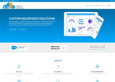 Informational Company B2B website