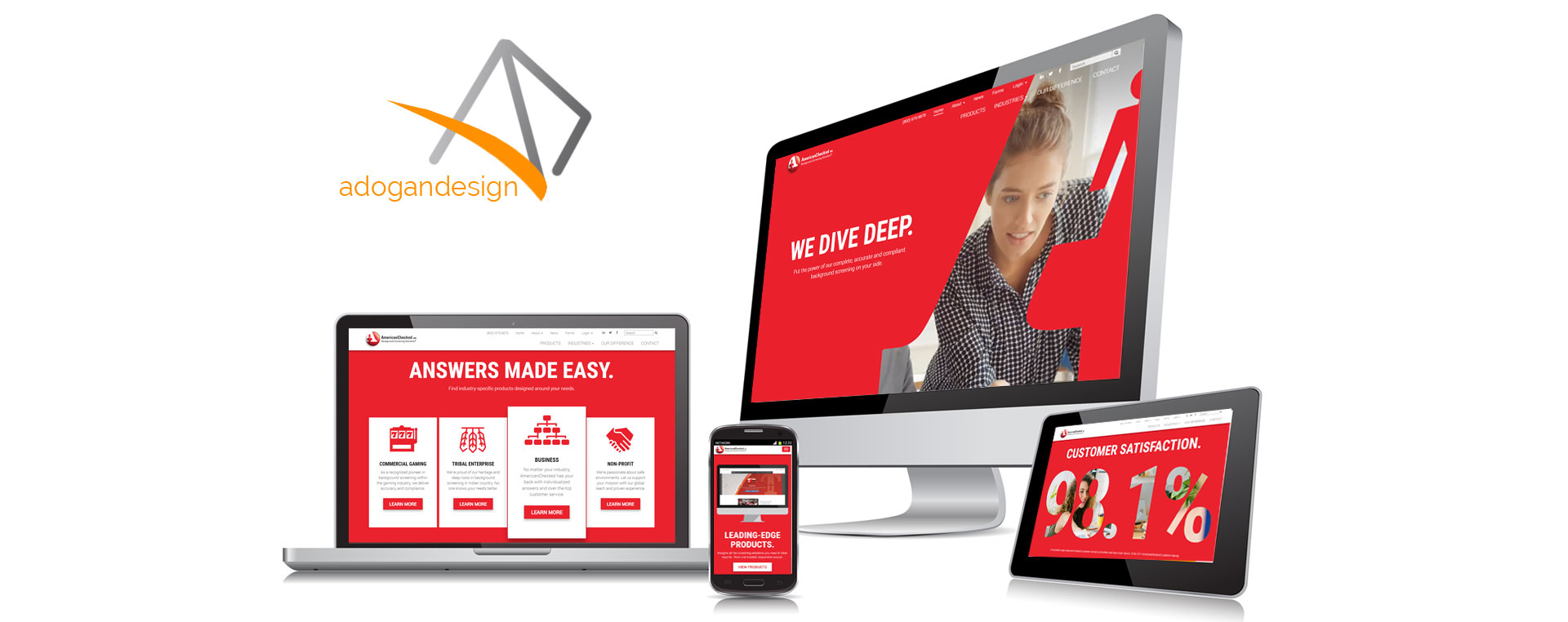American Checked Responsive Website Development