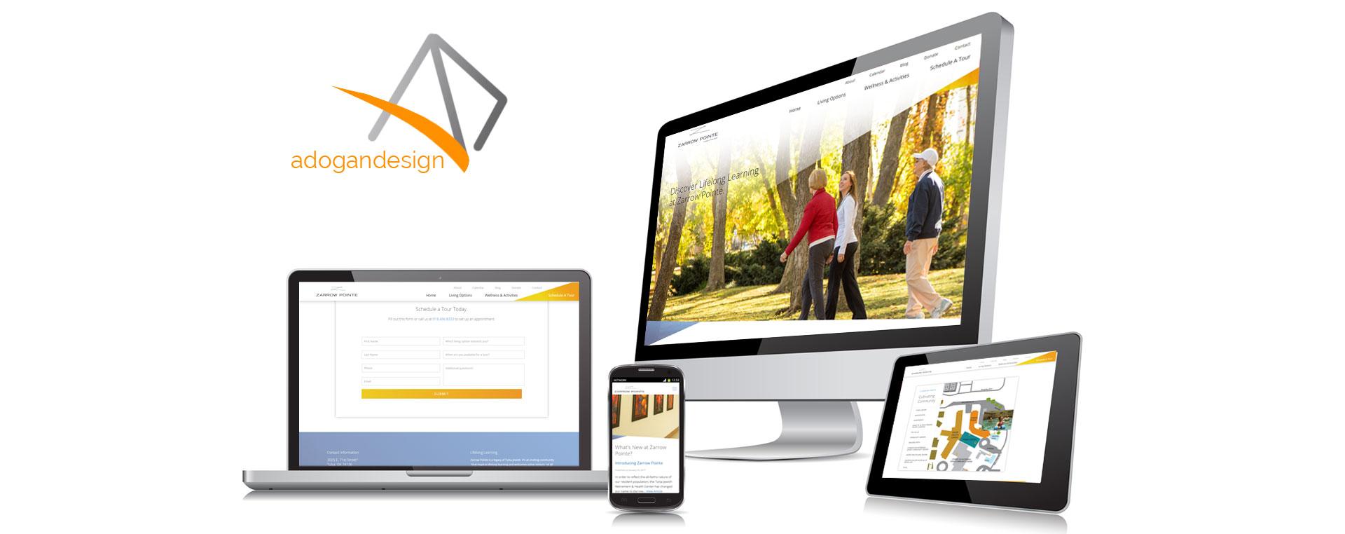 Custom responsive website
