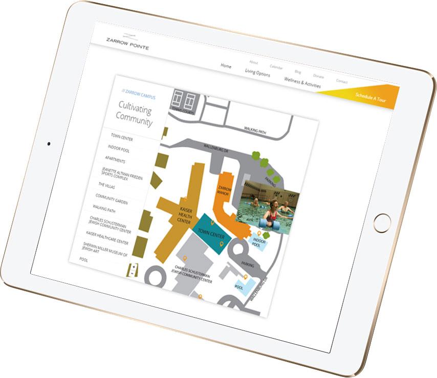 Custom-made interactive website components