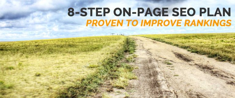 8-step on-page SEO plan proven to improve rankings